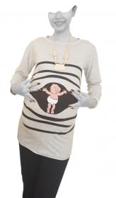 بلوز بارداری مامان خودمی ملانژ [8367]