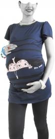 بلوز بارداری ملینا آستین کوتاه [8298]