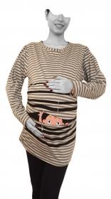 بلوز بارداری ملیکا ملانژ راه راه [8365]